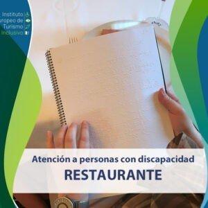 Curso atención a personas con discapacidad. Restaurante
