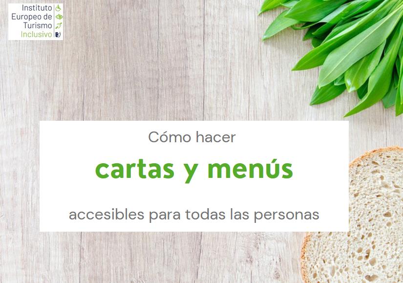 Cómo hacer cartas y menús accesibles para todas las personas