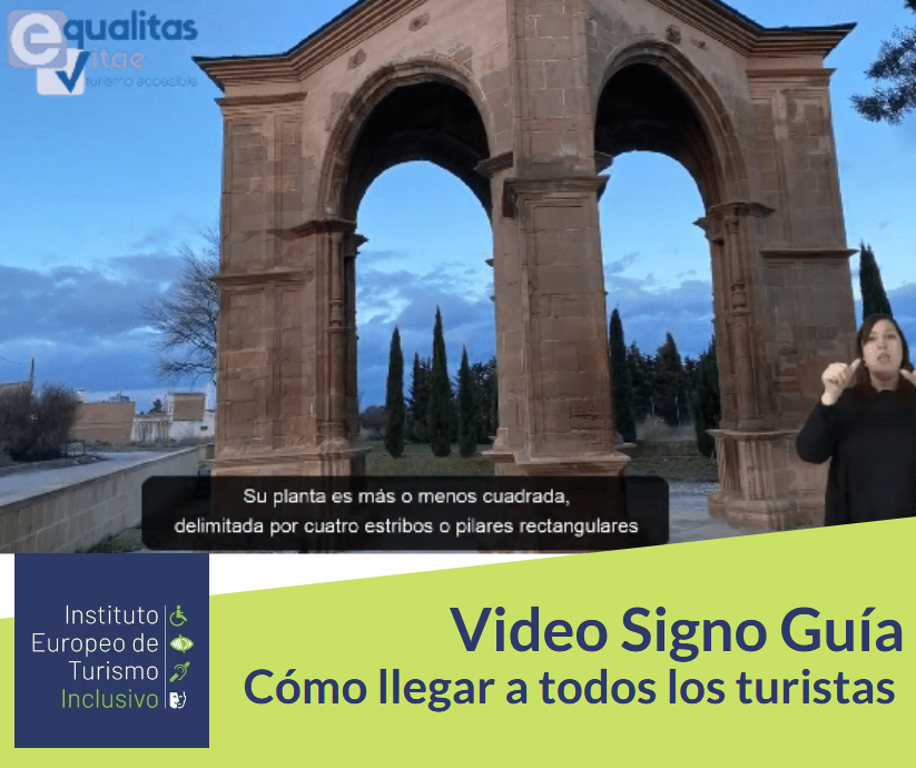 Iamgen de un vídeo con intérprete de lengua de signos y subtítulos.