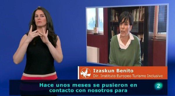 Imagen del reportaje del programa En lengua de Signos que emite Televisión Española