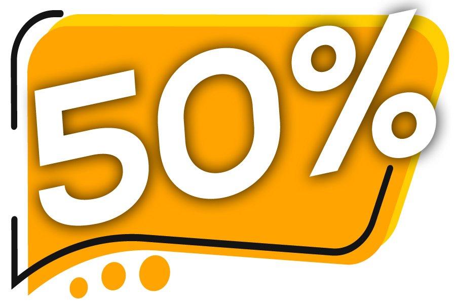 50% de descuento en septiembre